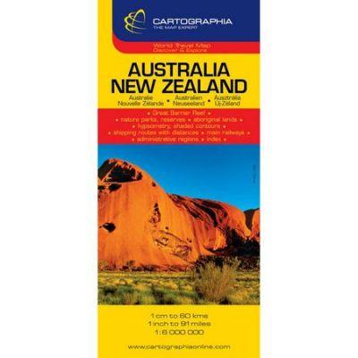 Harta rutiera Australia, Noua Zelanda 1: 6. 000. 000