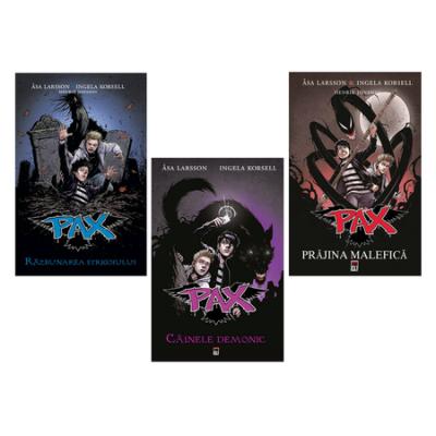Set de 3 carti Pax Editura Rao. Prajina malefica, Cainele demonic, Razbunarea strigoiului