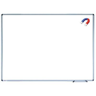 Tabla scolara monobloc alba cu suprafata metalo-ceramica magnetica cu suport carioca si creta, 1500X1200 mm (TSMAE150)