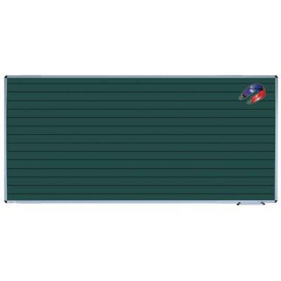 Tabla scolara monobloc verde liniata, dictando, 2000x1200mm (TSMVED200)