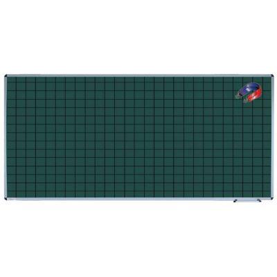 Tabla scolara monobloc verde liniata, matematica, 2000x1200mm (TSMVEM200)