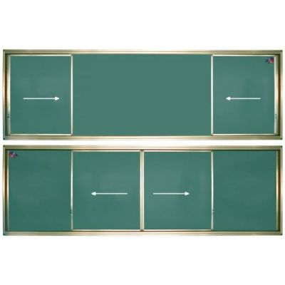 Tabla scolara verde cu 2 suprafete culisante pe orizontala 4000x1200mm (TSCOVYC400)