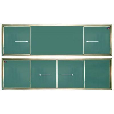 Tabla scolara verde cu 2 suprafete culisante pe orizontala 4600x1200mm (TSCOVYC460)