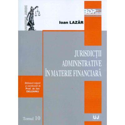 Jurisdictii administrative in materie financiara