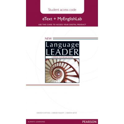 New Language Leader Upper Intermediate eText Coursebook with MyEnglishLab Pack - David Cotton