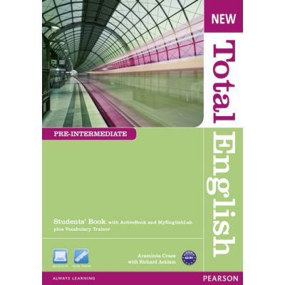 New Total English Pre-Intermediate Students' Book with Active Book and MyLab Pack - Araminta Crace, Richard Acklam