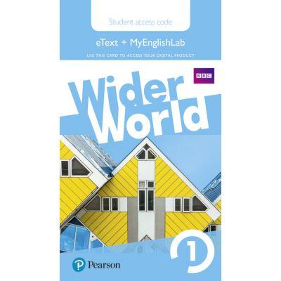 Wider World Level 1 MyEnglishLab & Students' eText Access Card