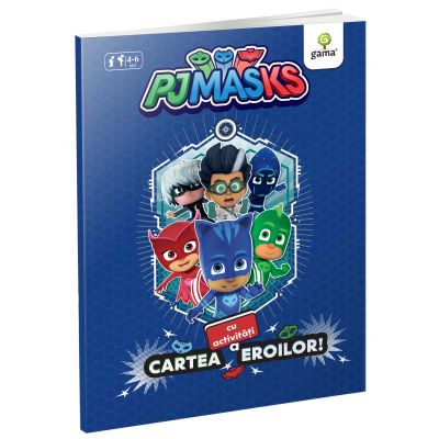 Acrivitati cu PJ Masks - Cartea cu activitati a eroilor