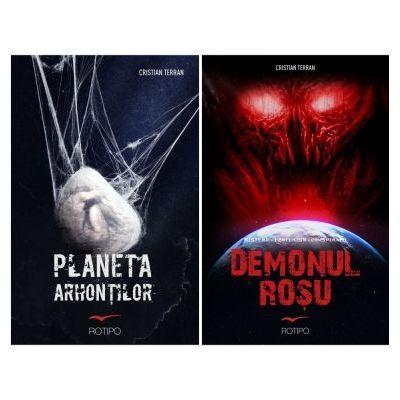 Pachet Demonul Rosu si Planeta Arhontilor, autor Cristian Terran