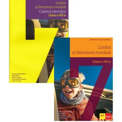 Pachet Limba si literatura romana pentru clasa a 7-a manual si caiet, autor Florentina Samihaian