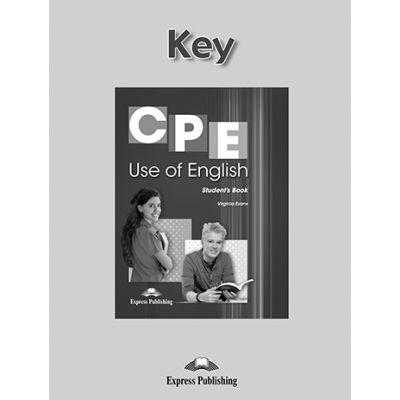 Curs engleza CPE Use Of English 1 Key - Virginia Evans