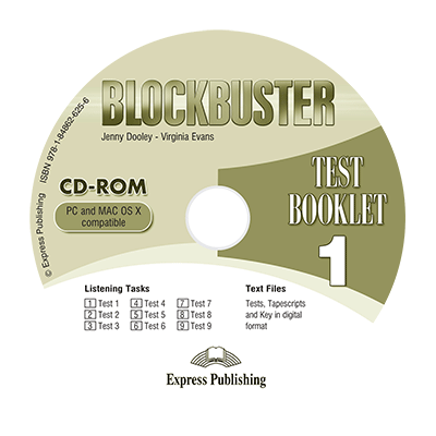 Curs limba engleza Blockbuster 1 CD-ROM Teste - Jenny Dooley, Virginia Evans