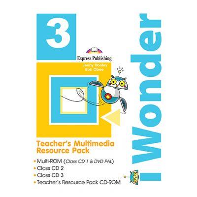 Curs limba engleza iWonder 3 Material multimedia pentru profesor set 4 CD - Jenny Dooley, Bob Obee