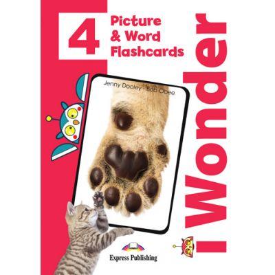Curs limba engleza iWonder 4 Picture si Word Flashcards - Jenny Dooley, Bob Obee