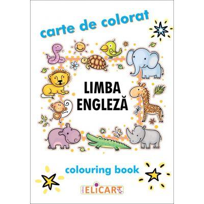 Limba engleza. Carte de colorat