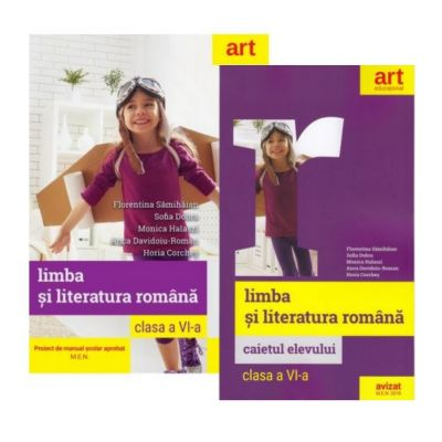 Pachet Limba si literatura romana pentru clasa a VI-a manual si caiet - Florentina Samihaian