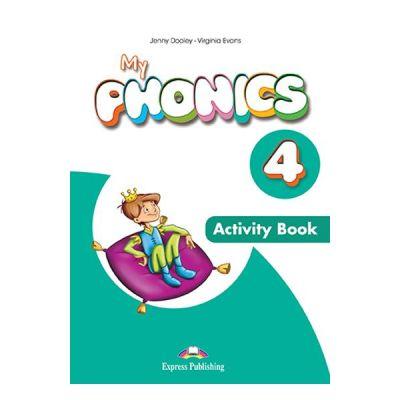Curs limba engleza My Phonics 4 Caiet cu App - Jenny Dooley, Virginia Evans