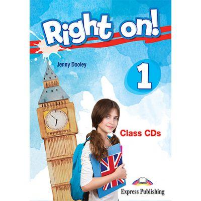 Curs limba engleza Right On 1 Audio Set 3 CD - Jenny Dooley