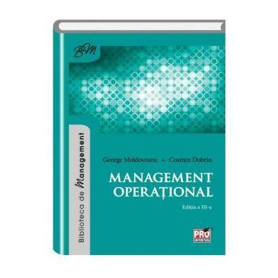 Management operational - Cosmin Dobrin, George Moldoveanu