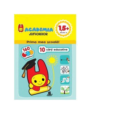 Academia juniorilor. 10 carti educative, 1, 5+, Nivelul A, pentru grupa mica - Ilona Bakse