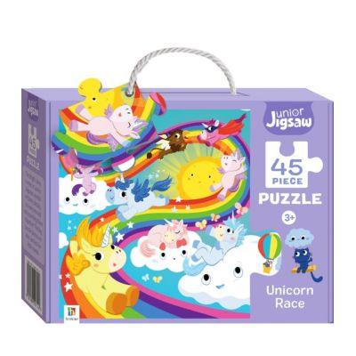Junior Jigsaw 45 Piece Puzzle. Unicorn Race