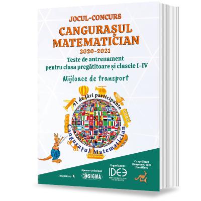Jocul-concurs Cangurasul Matematician 2020-2021. Revista de antrenament pentru clasa pregatitoare si clasele I-IV