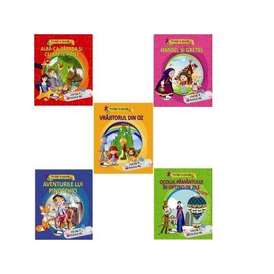 Pachet 5 carti Povesti cu puzzle