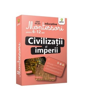 Civilizatii si imperii. Carti de joc educative Montessori 6-12 ani