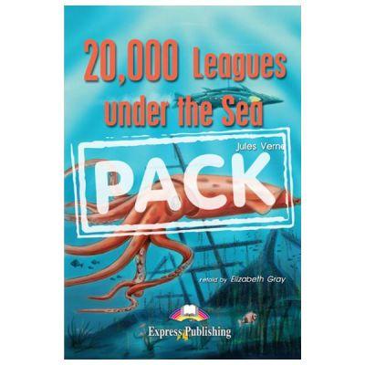 Literatura adaptata pentru copii 20 000 Leagues Under the Sea SET Carte + Multi-ROM + Caiet de activitati - Elizabeth Gray