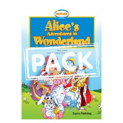Literatura adaptata pentru copii. Alice's Adventures in Wonderland. Set Carte + MULTI-ROM - Virginia Evans