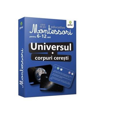 Universul - Corpuri ceresti. Carti de joc educative Montessori 6-12 ani
