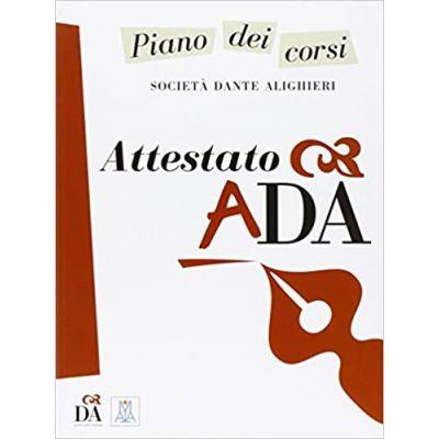 Attestato ADA (libro)/Certificat ADA (carte) - Società Dante Alighieri