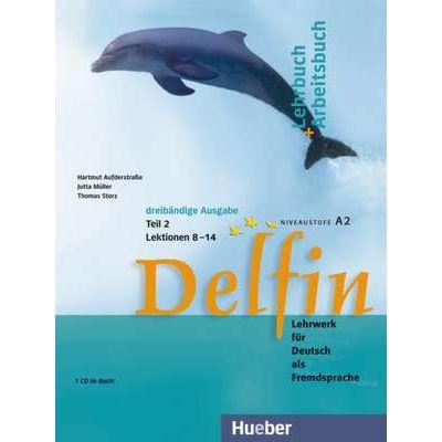 Delfin, Lehrbuch + Arbeitsbuch Teil 2 mit integrierter Audio-CD Lektionen 8–14 - Jutta Muller