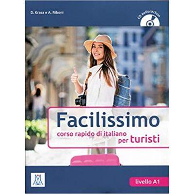 Facilissimo (libro + CD audio). Foarte usor (carte + CD audio). Curs rapid de limba italiana - Daniel Krasa, Aldo Riboni