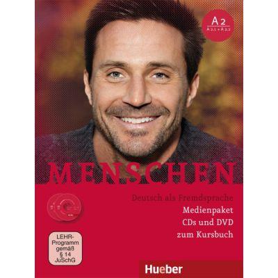 Menschen A2 Medienpaket 2 Audio-CDs und 1 DVD zum Kursbuch - Charlotte Habersack, Franz Specht, Angela Pude