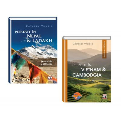 Pachet jurnal de calatorie: Pierdut in Nepal si Ladakh si Pierdut in Vietnam si Cambodgia